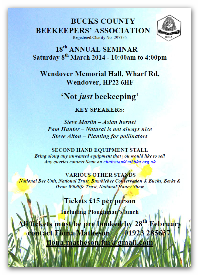 Bucks County Annual Seminar 2014 poster